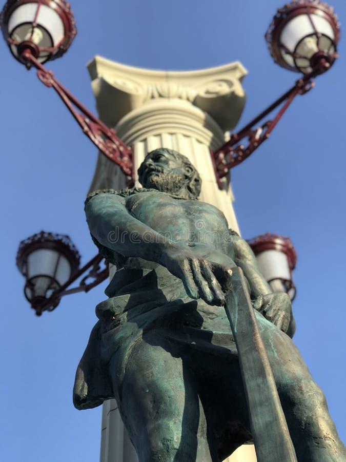 Eine Statue in der Mitte von Irpin-Stadt - Kyiv Oblast in Ukraine lizenzfreie stockbilder