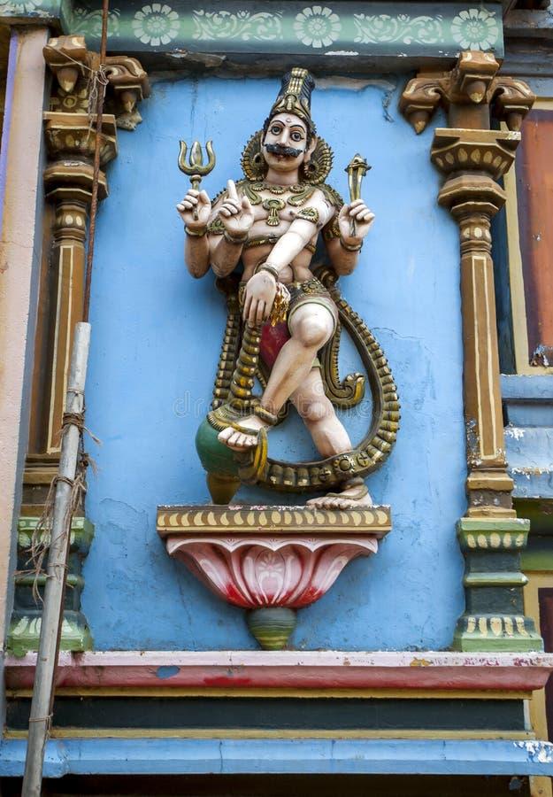 Eine Statue des hinduistischen Gottes Lord Shiva stockfotografie