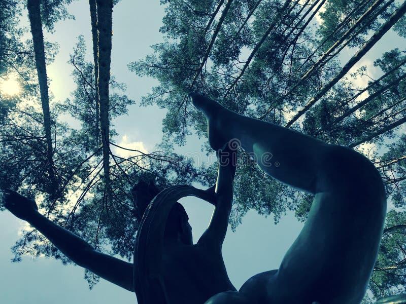 Eine Statue eines Balletttänzers im Central Park in Irpin - in Kyiv/in Kiew - Ukraine - EUROPA stockbild