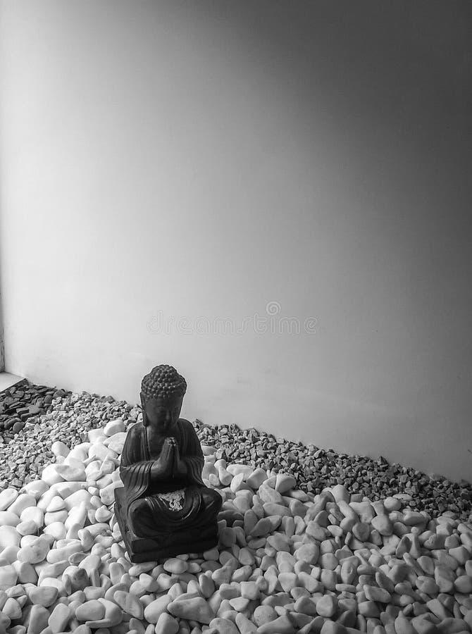 Eine Statue eines budah stockfotografie