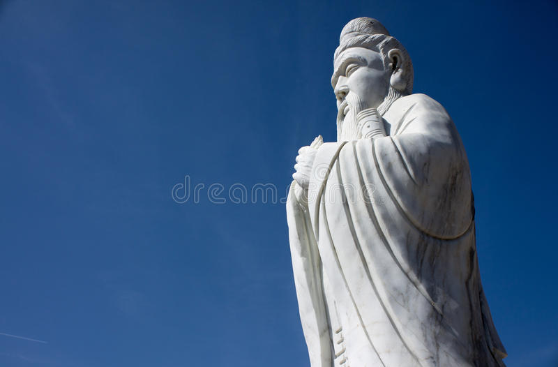 Statue von Konfuzius stockfotos
