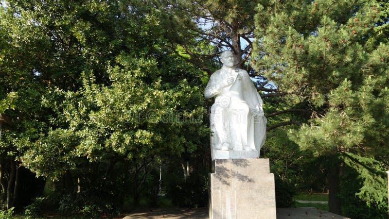 Eine Statue von Lenin in Krim lizenzfreie stockfotografie