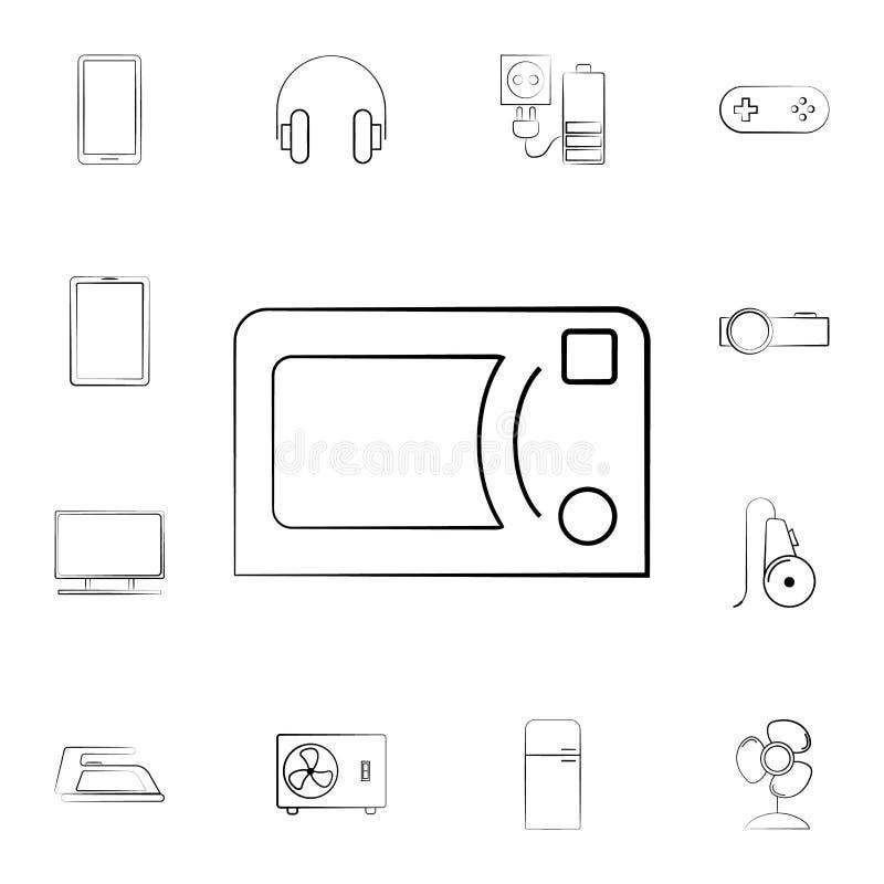 eine Staubsaugerikone Ausführlicher Satz Haushaltsgeräte Erstklassiges Grafikdesign Eine der Sammlungsikonen für Website, Netz de vektor abbildung