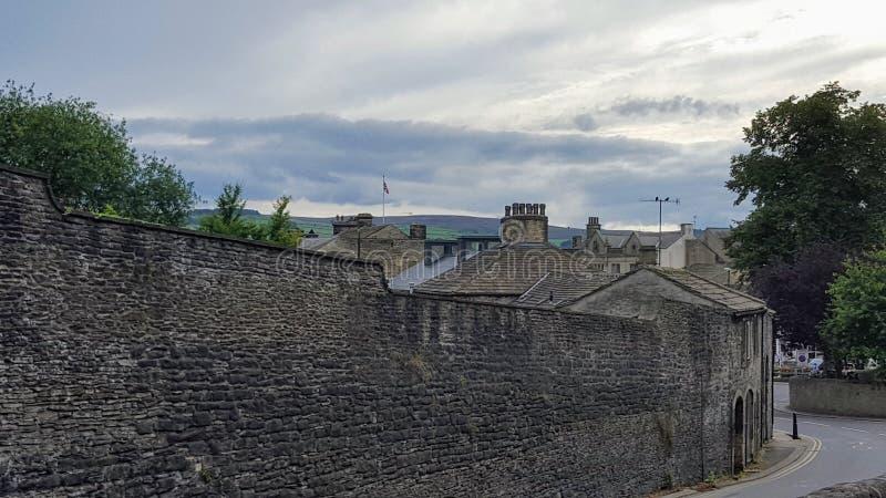 Eine Straße in einer Kleinstadt stockfoto
