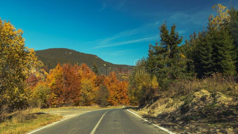 Eine Straße herein zu den Hügeln stockfotografie