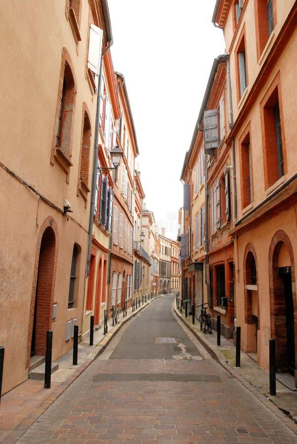 Eine Straße von Toulouse stockbilder