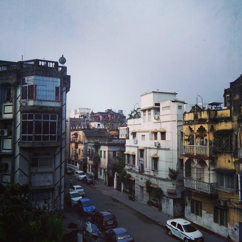 Eine Straßenansicht von kolkatta stockbilder
