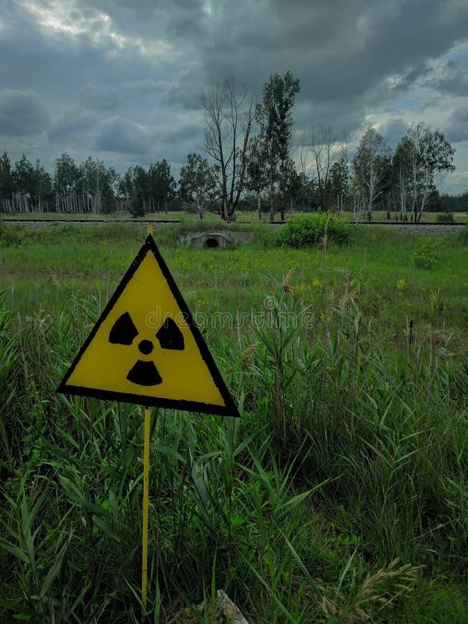Eine Strahlung unterzeichnen herein Tschornobyl lizenzfreies stockbild