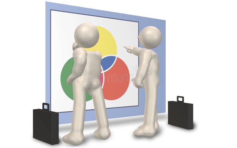 Eine Strategiensitzung lizenzfreie abbildung