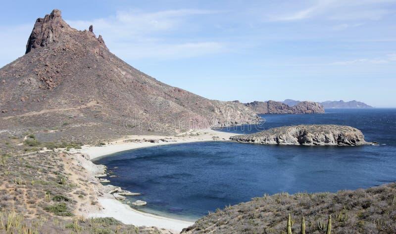 Eine szenische Ansicht von Mirador-Ausblick, San Carlos, Sonora, Mexiko stockfotografie