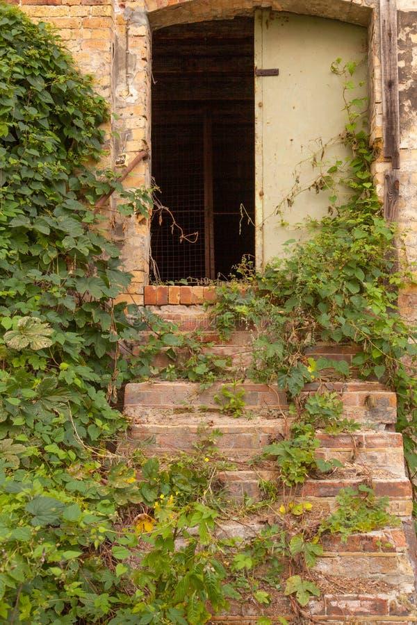 Download Eine Tür In Einer Alten Wand Stockbild - Bild von ruine, real: 26366243