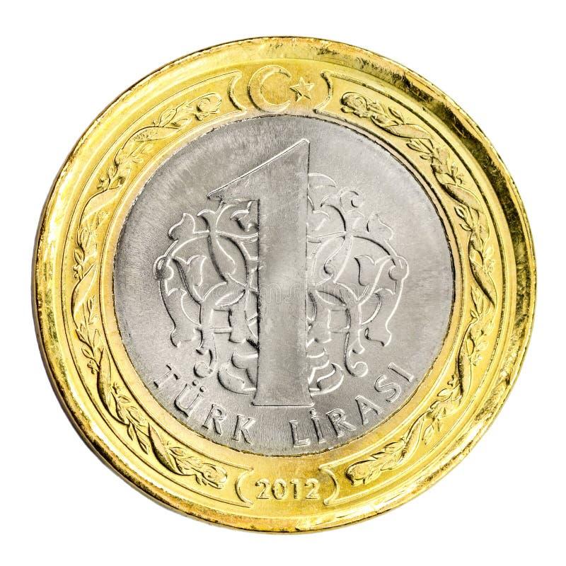 Eine türkische Lira lizenzfreie stockfotos