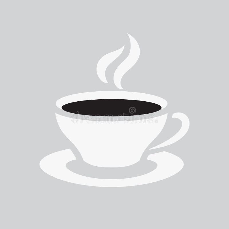 Eine Tasse Kaffee-Ikone Heißes Teegetränksymbol für Café oder Restaurant Auch im corel abgehobenen Betrag stock abbildung