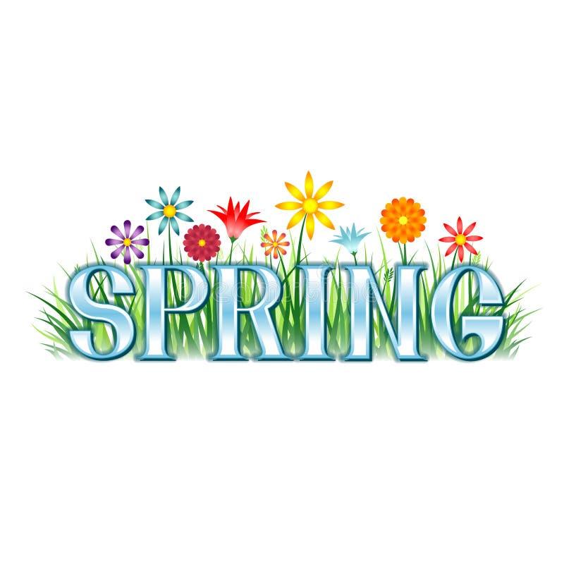 Frühlings-Fahne lizenzfreie abbildung