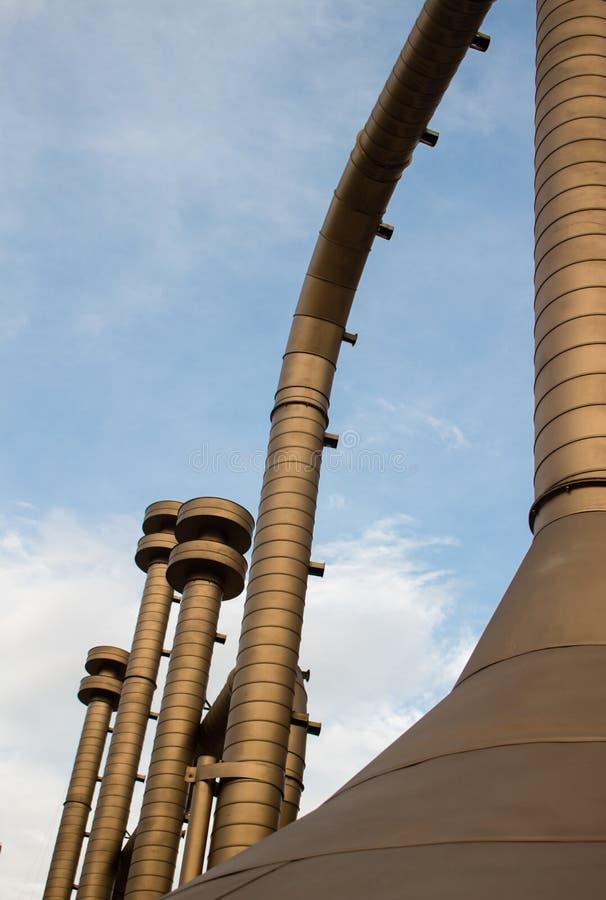 Eine Trompete mögen eine Industrie, Jairo Varela Square, Cali, Kolumbien stockbilder