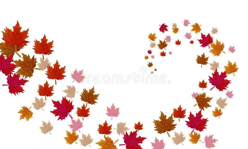 Eine Turbulenz des Herbstlaubs stock abbildung