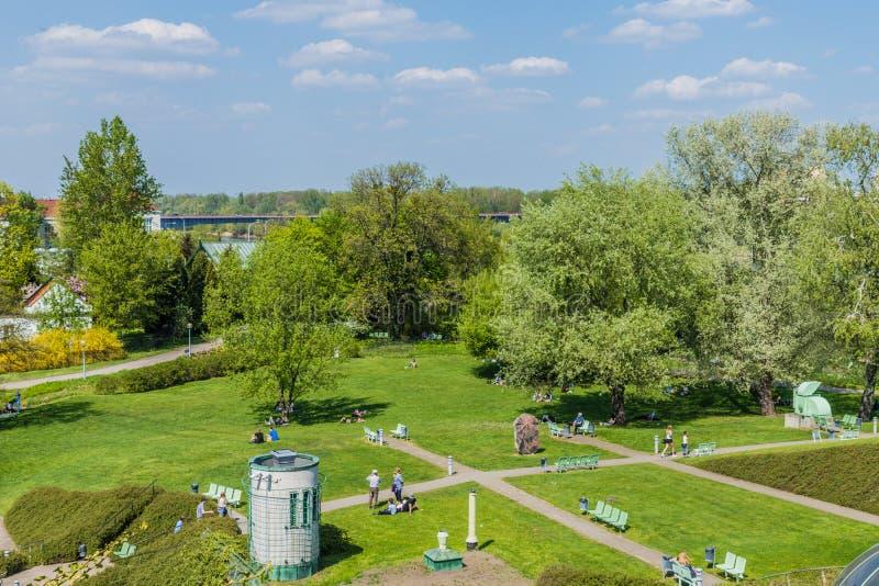 Eine typische Ansicht in Warschau in Polen lizenzfreies stockbild