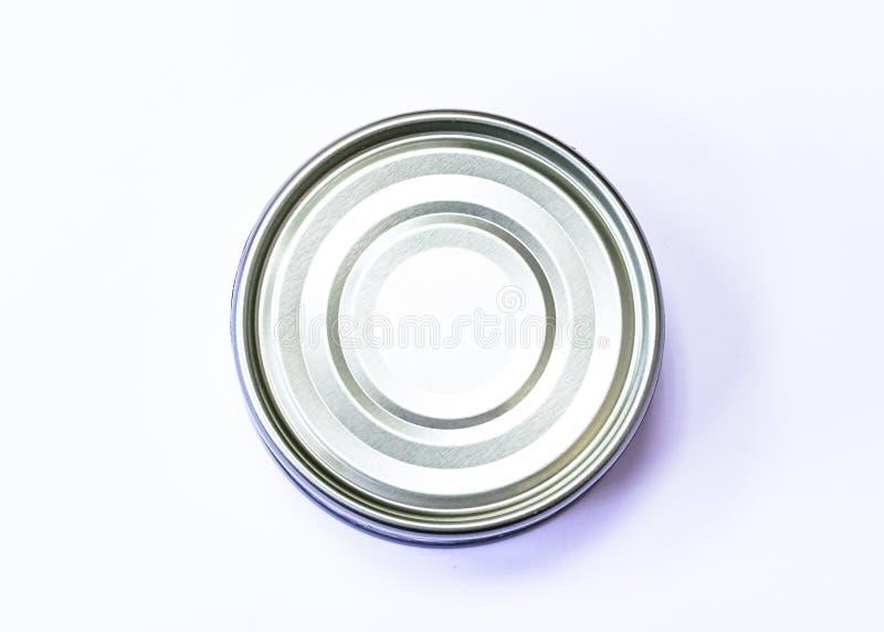 Eine Unterseite des Thunfischs kann auf einem weißen Hintergrund lizenzfreie stockfotos