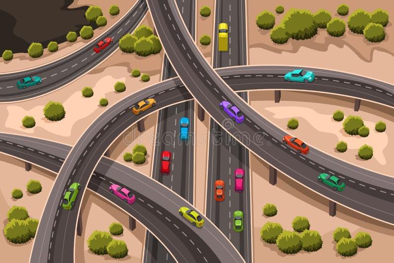 Landstraße lizenzfreie abbildung