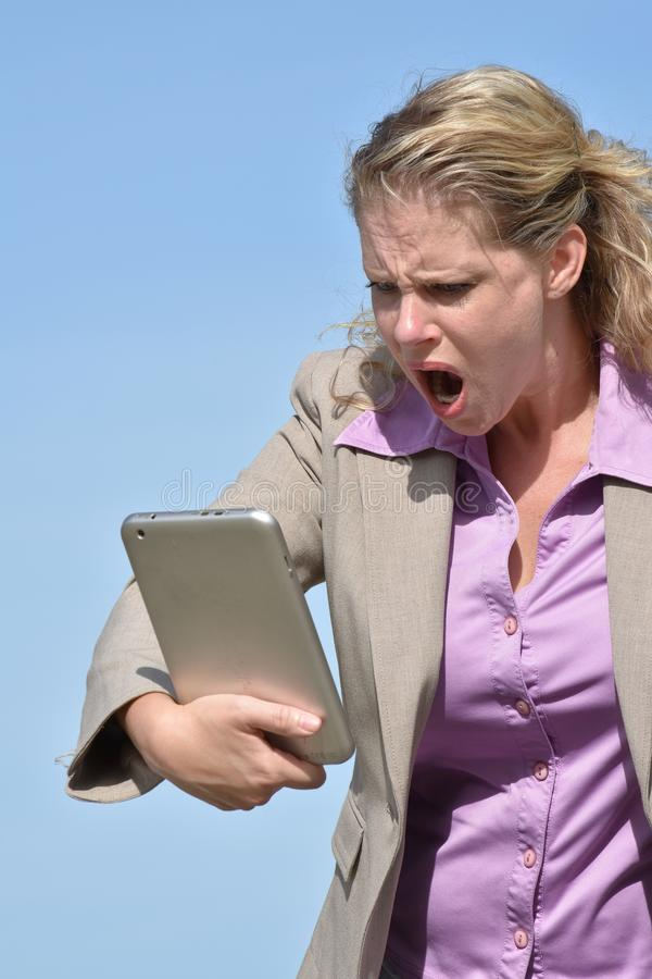 Eine verärgerte erwachsene Person stockfotografie