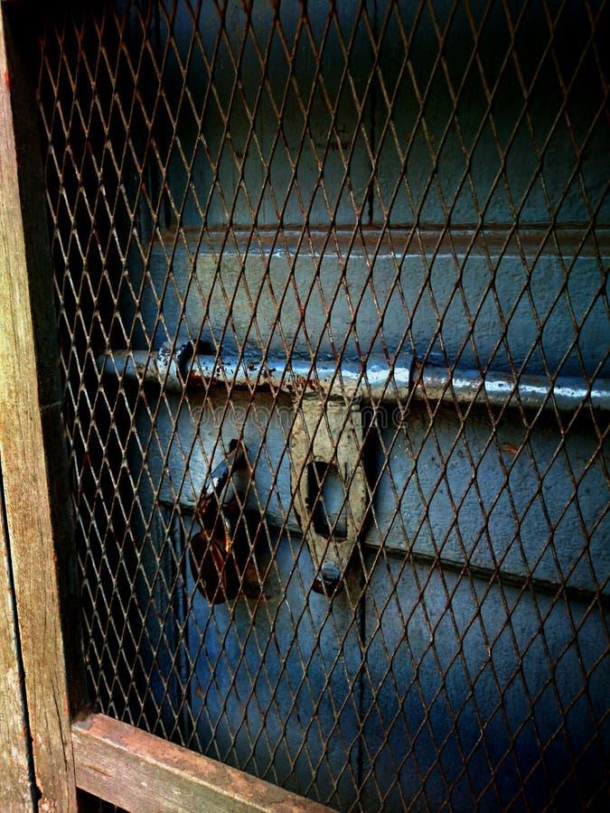 Eine verschlossene Tür lizenzfreies stockbild