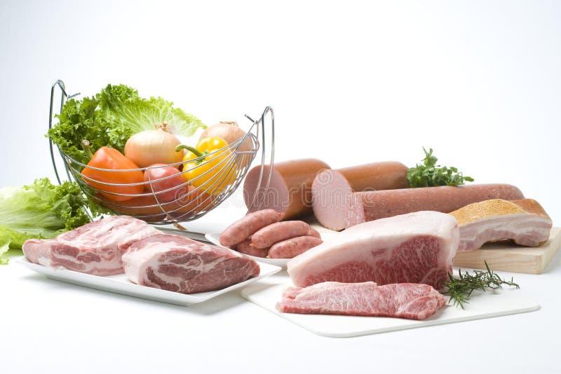 Eine Vielzahl des Fleisches lizenzfreie stockbilder