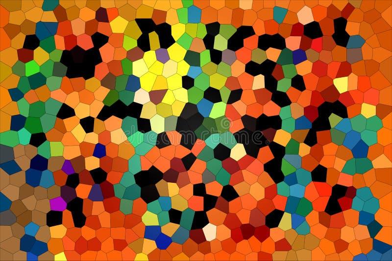 Eine Vielzahl von den mehrfarbigen Rauten, die eine Zusammensetzung in einer modernen Art schaffen stockfotografie