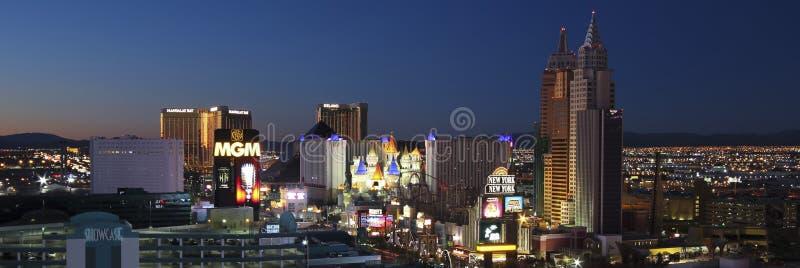 Eine Vogelperspektive des Las Vegas-Streifens, der Süd schaut stockbild