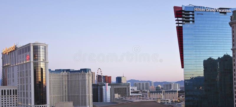 Eine Vogelperspektive von Las Vegas schauend Nord lizenzfreie stockbilder