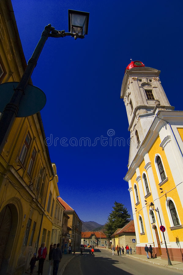 Eine von historischen Kirchen der Baia Stute. lizenzfreie stockbilder