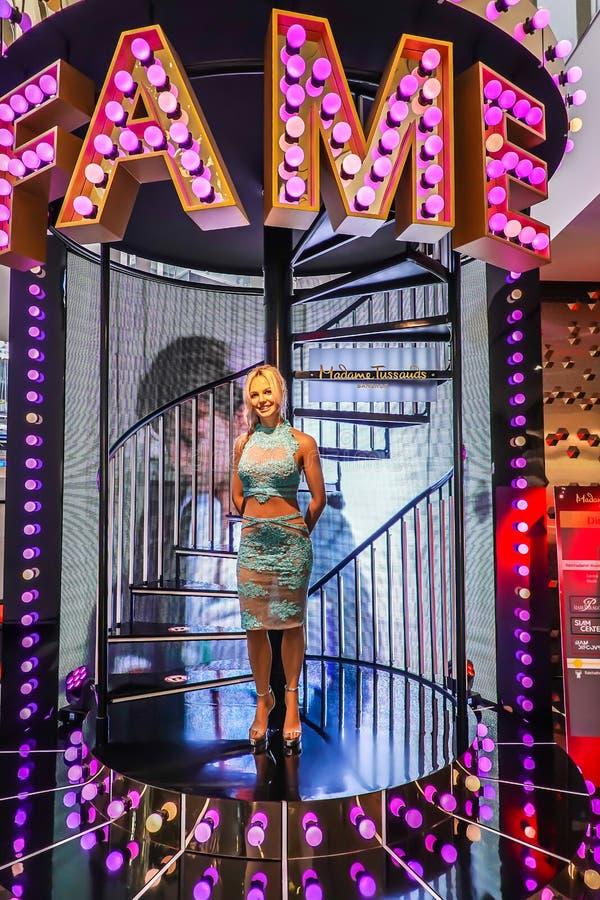 Eine Wachsfigur von Britney Spears auf Anzeige an Madame Tussauds am 21. Oktober 2018 in Bangkok, Thailand lizenzfreies stockfoto