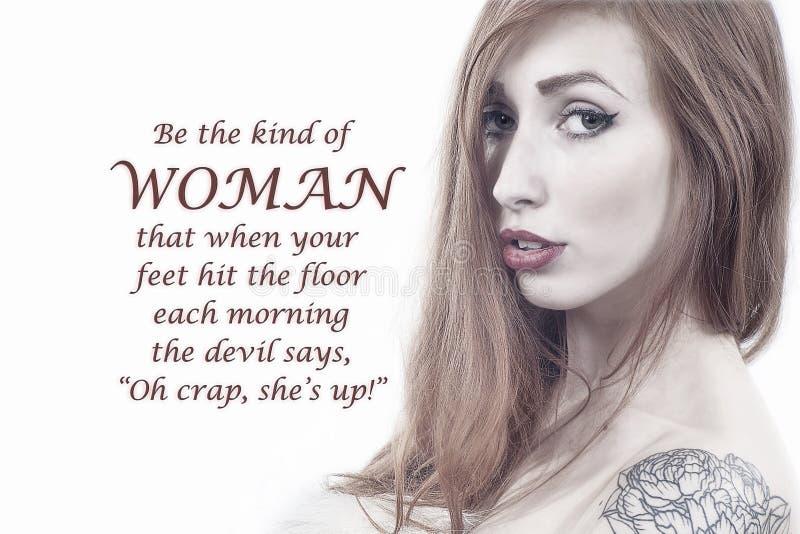 Eine was für Frau - Teufel ` s Furcht vektor abbildung