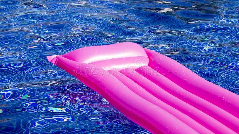Eine Wassermatratze im Pool stockbilder