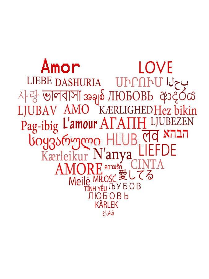 Ich Liebe Dich In Allen Sprachen Der Welt Vektor Abbildung