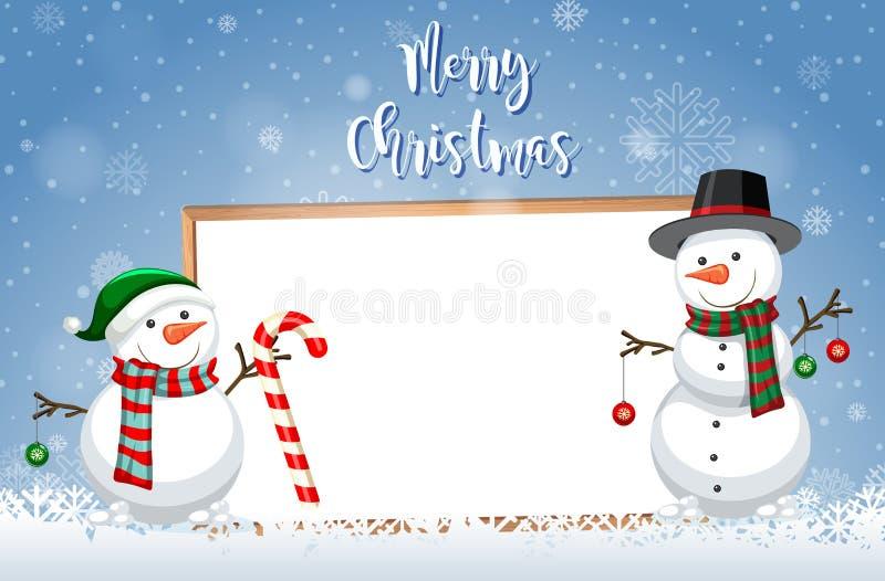 Eine Weihnachtskartenschablone stock abbildung