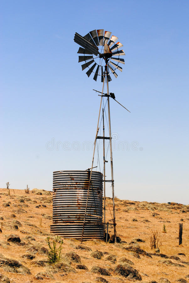 Eine Windmühle in Victoria, Australien stockfoto