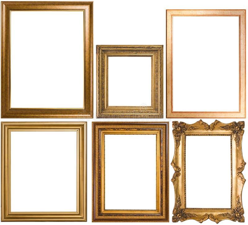 Eine Zusammenstellung der klassischen Bilderrahmen stockfoto