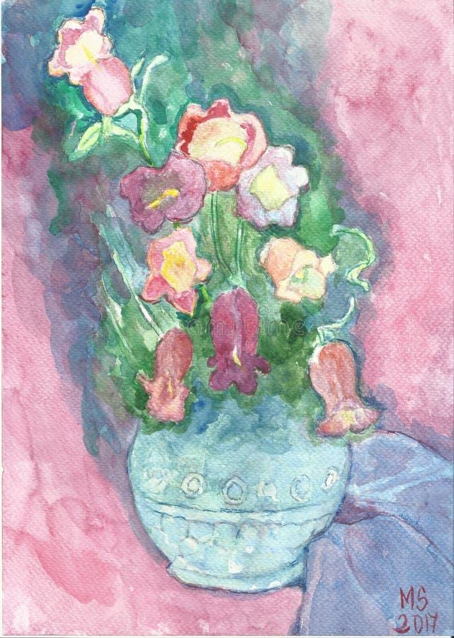 In einem blauen Vase lizenzfreies stockfoto