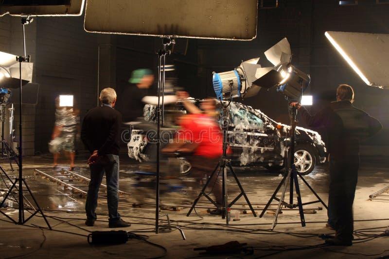 In einem Filmstudio lizenzfreie stockfotos