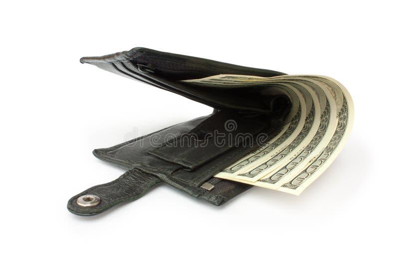 Einen Fonds mit einem Geld etwas öffnen lizenzfreie stockfotos