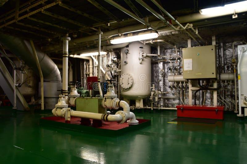Einer der Bereiche vom Maschinenraum stockfotografie