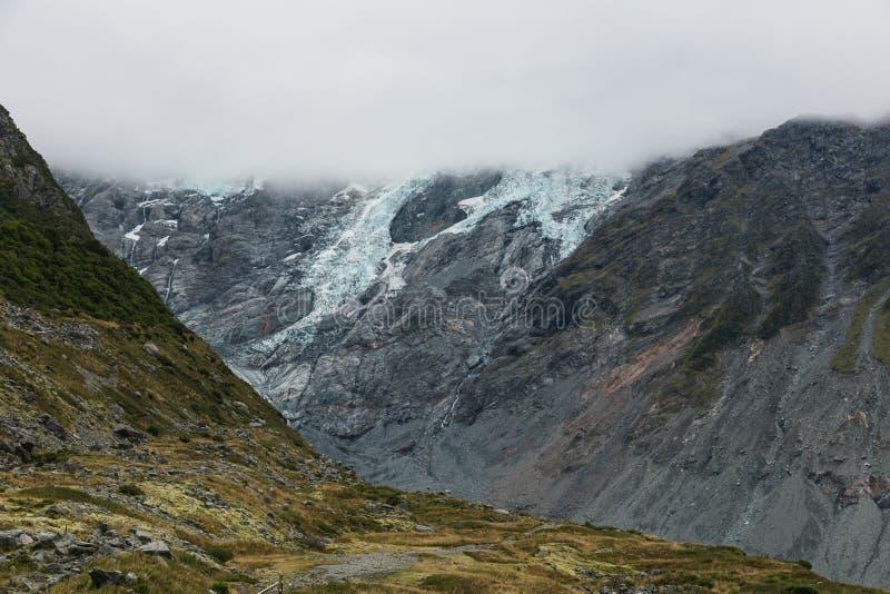 Einer der populärsten Wege in Aoraki-/Mtkoch National Park, Neuseeland stockbilder