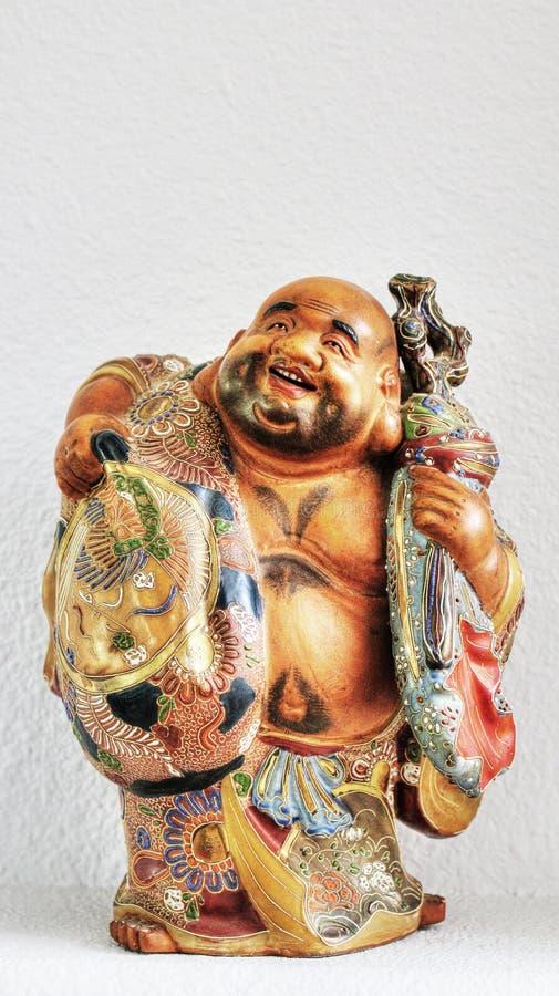 Einer der sieben glücklichen Götter in der japanischen Mythologie stockbilder