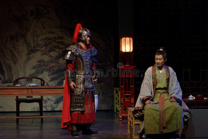 In einer des Dilemmas-D Tat an zweiter Stelle: die Nacht des Armee-großen historischen Dramas, ` Yangming drei Nacht-` stockfoto