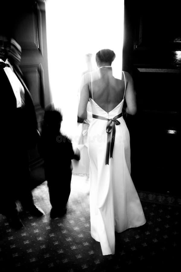 An einer Hochzeit stockfotos