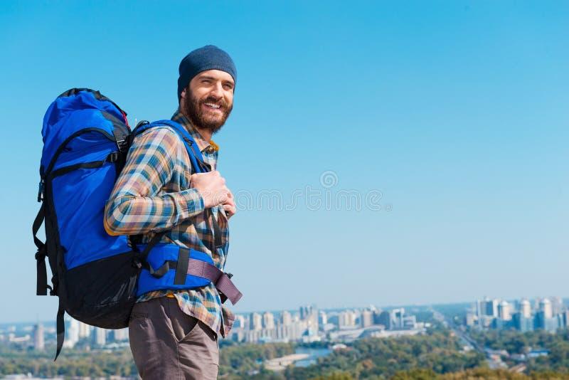 In einer Suche von Abenteuern stockfoto