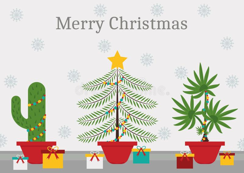 In einer Weihnachtszeit ist jede Anlage ein Weihnachtsbaum lizenzfreie stockfotografie