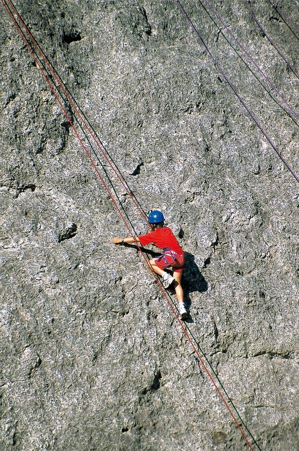 Einführung zum Klettern im Klatschen de la DrÃ'me, Frankreich lizenzfreie stockfotografie