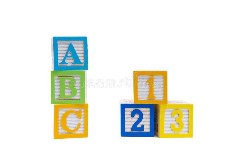 Einfach als ABC 123 stockbilder