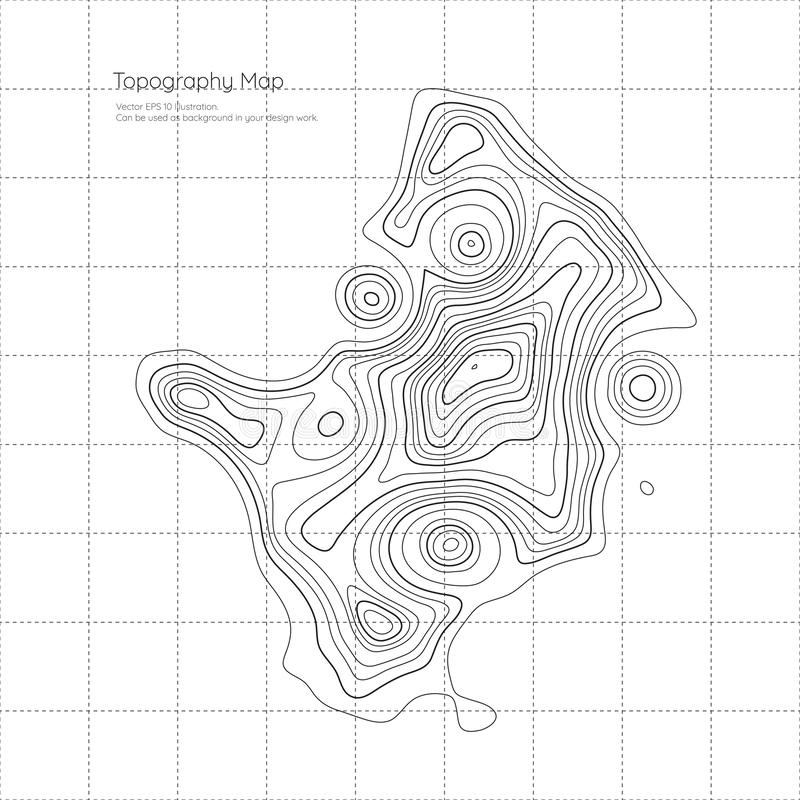 Einfach zu bearbeiten Topographiekarte Abstrakte Landschaft stock abbildung